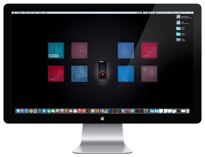 screen saver desktop background hal 9000