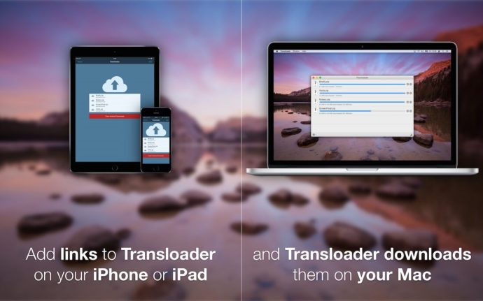 transloader for iOS and Mac