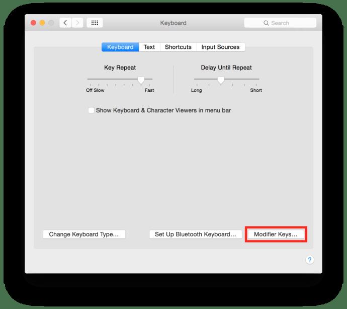 mac system preferences keyboard