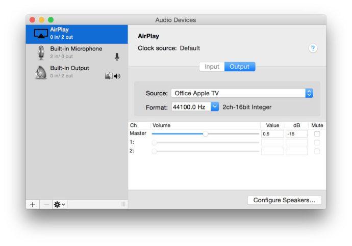 airplay output audio midi setup