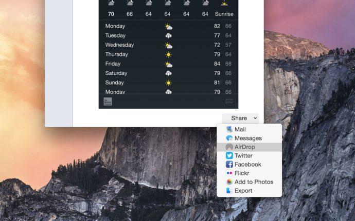 iOS capture screenshot share