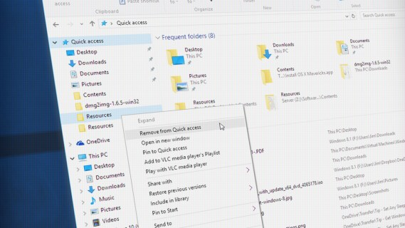 How to Clean Up and Tame Quick Access in Windows 10