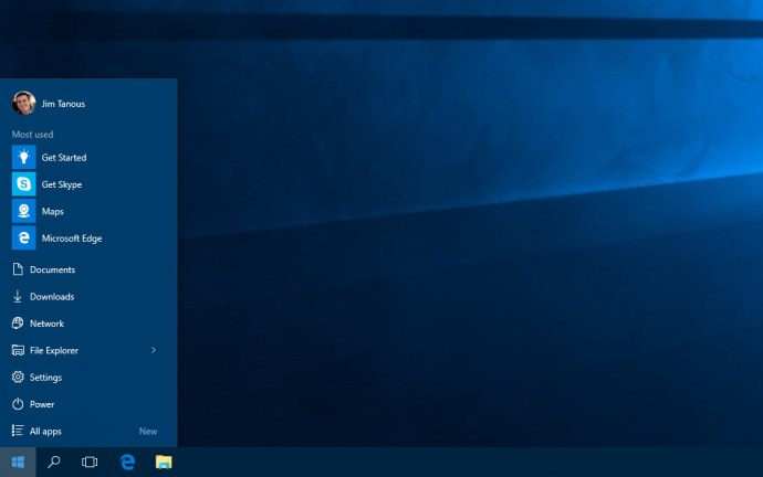 windows 10 small start menu