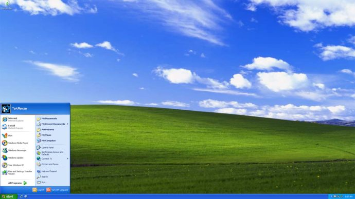 windows xp start menu desktop