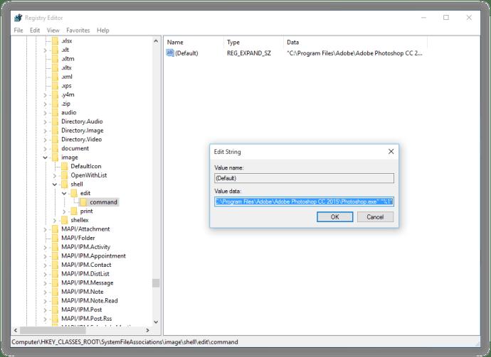 windows change edit application photoshop