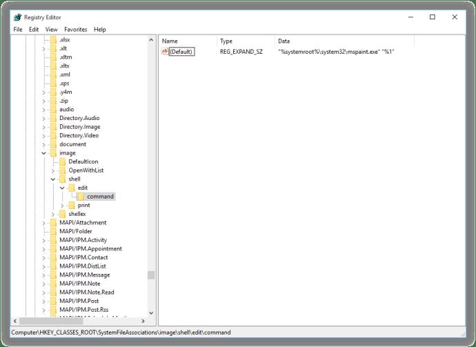 windows change edit application registry