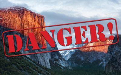 os x danger warning