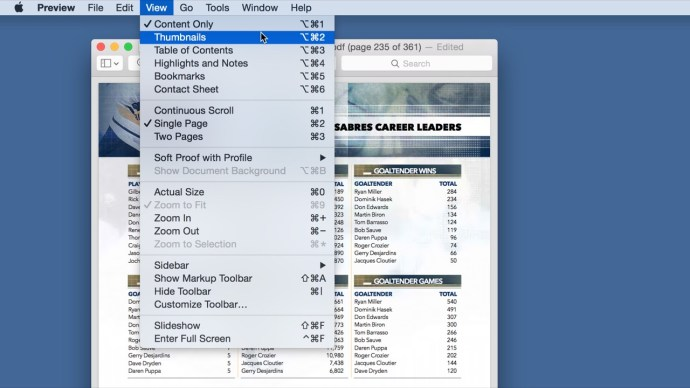 os x preview view as thumbnails