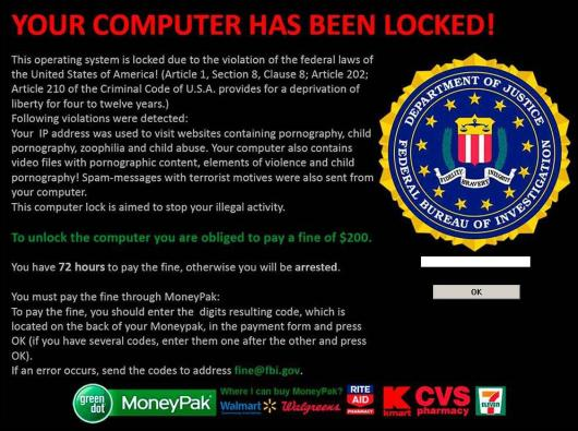 FBI-MoneyPak-virus