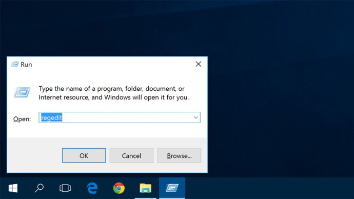 windows 10 run regedit