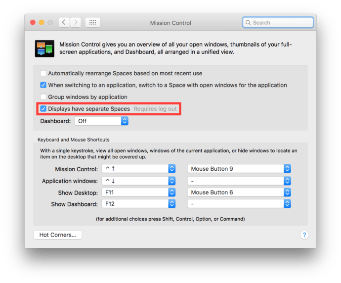 El Capitan's Split View Not Working? Check This Option in