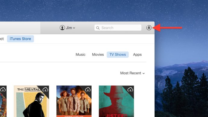 itunes 12 downloads button