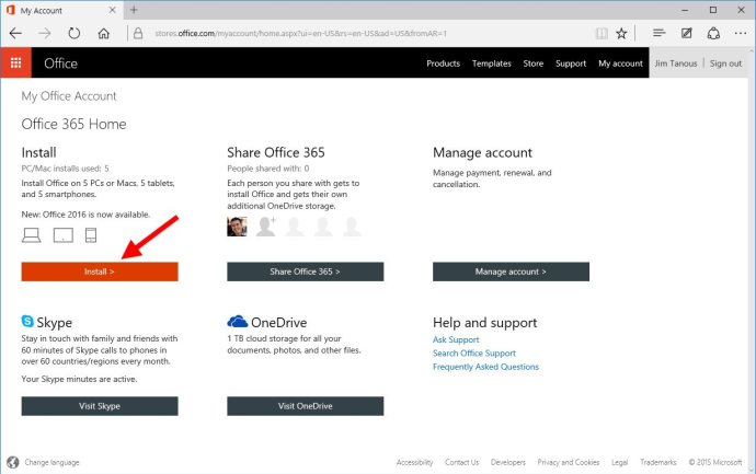 office 365 my account