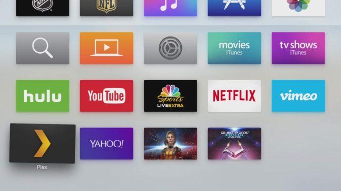 apple tv plex app home screen