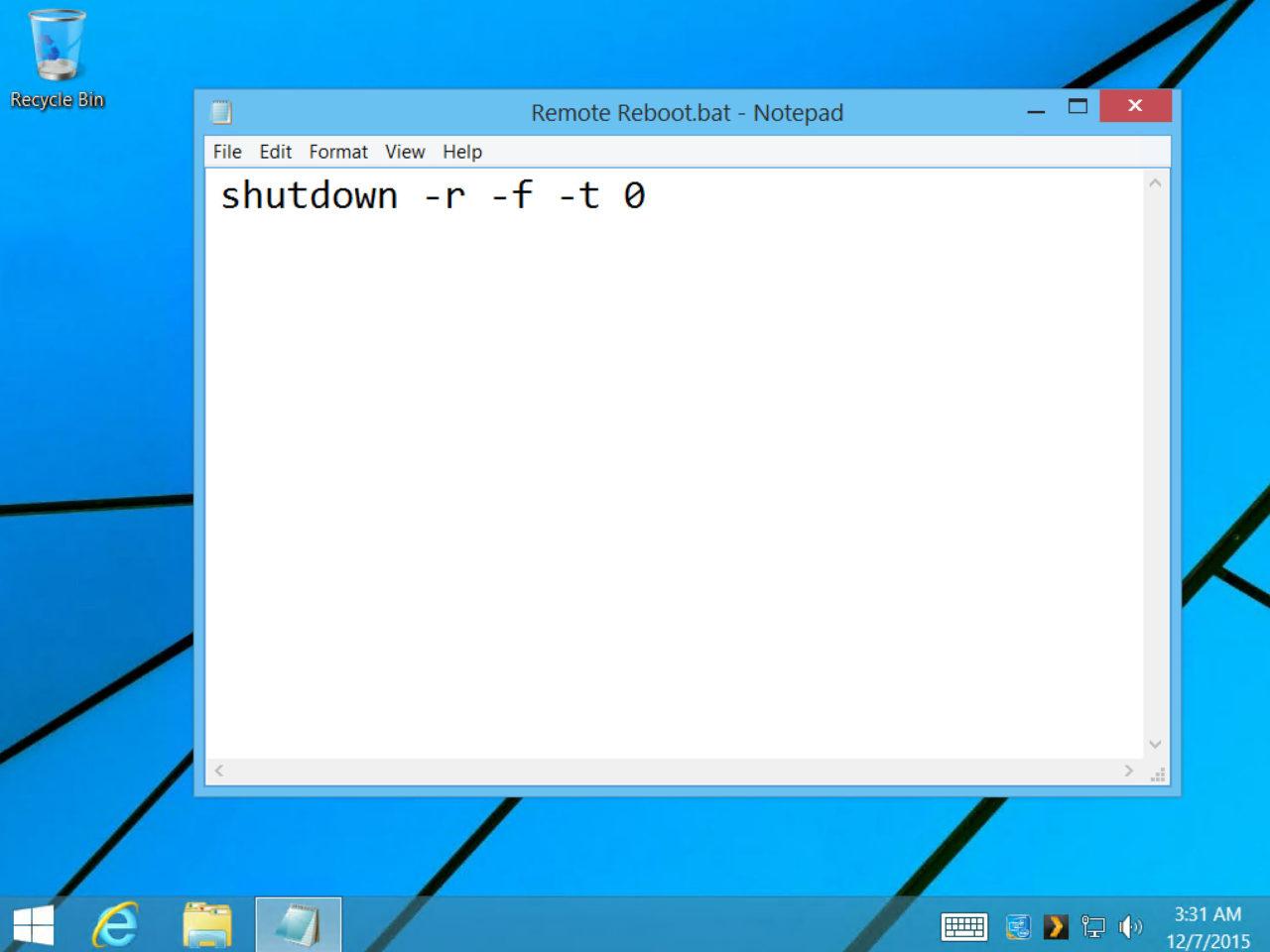 batch file to restart computer remotely