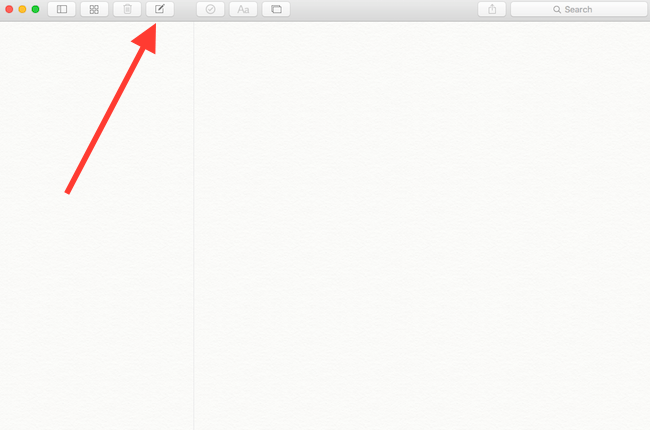 create new note in OS X Notes