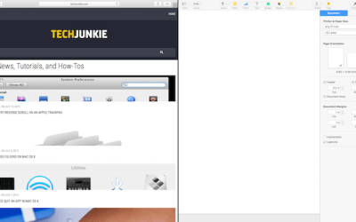 split screen on OS X