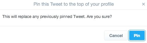 всплывающее окно подтверждения в Twitter