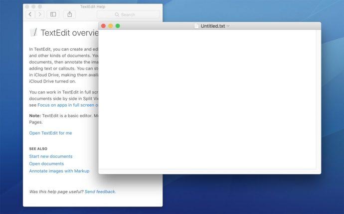 mac os x help window window on bottom