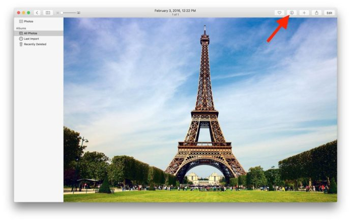 photos for mac location get info