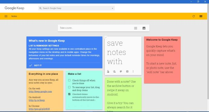 Google notes