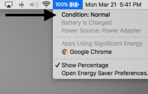 battery health monitor in OS X