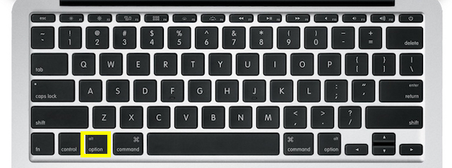 option key on MacBook