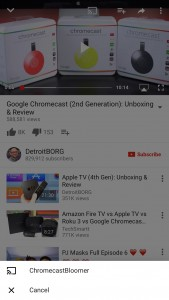 Chromecast from iPhone