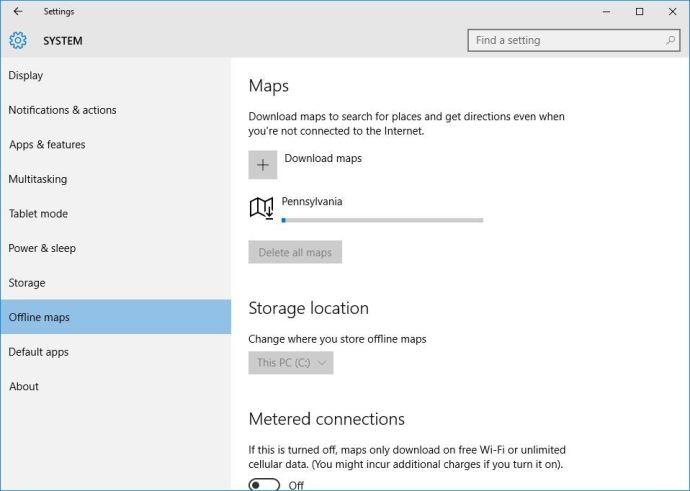 windows 10 download maps