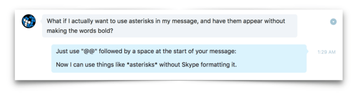 skype ignore text formatting
