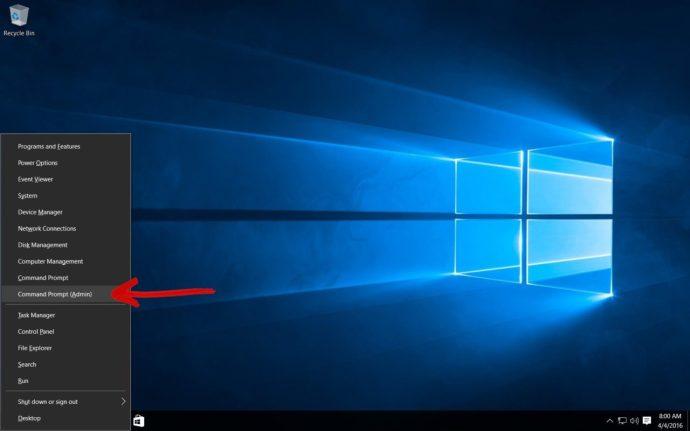 windows 10 command prompt admin