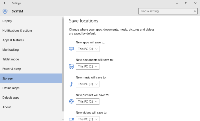 change install location windows 10 apps
