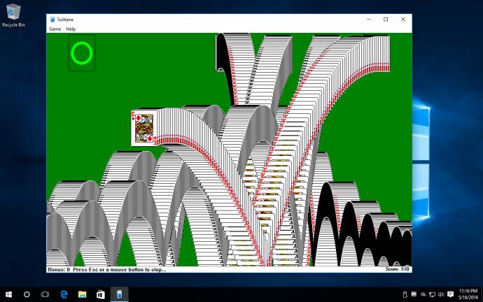 solitaire windows 10 win