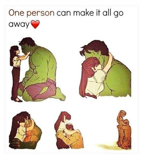 Hulk transformation from love