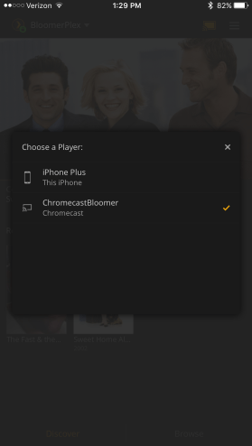 Chromecast select device