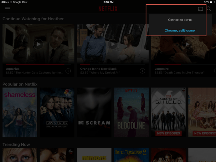 Netflix GC device