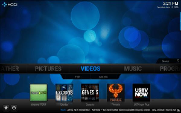 KODI Video shortcuts