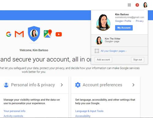 my account gmail