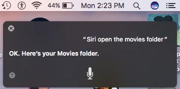 Siri open Folders