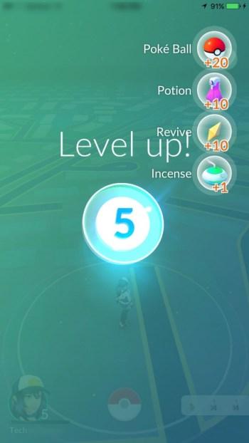 Pokemon Go Level Up