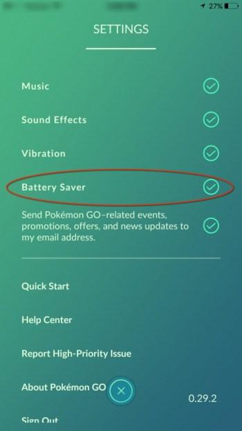 Battery Saver Pokemon Go
