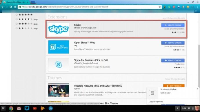 Skype Extension Chrome
