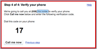 Verify Google Number