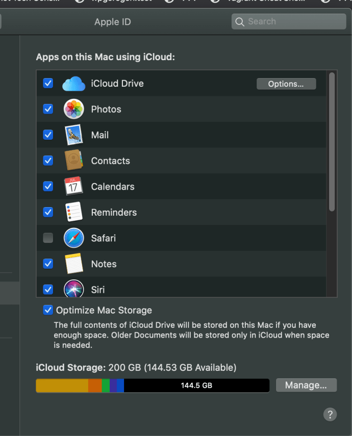 icloud prefences на Mac