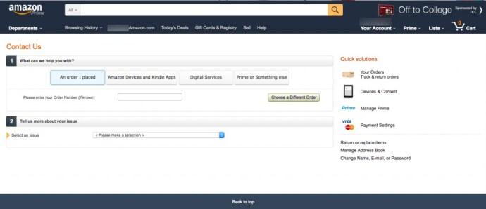 Amazon Online Contact
