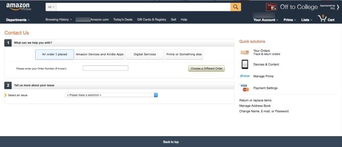 Online Amazon Contact