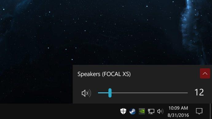 windows 10 anniversary update volume taskbar