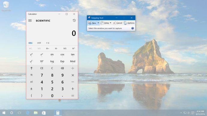 windows 10 screenshots capture window