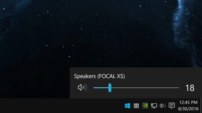 windows 10 volume taskbar