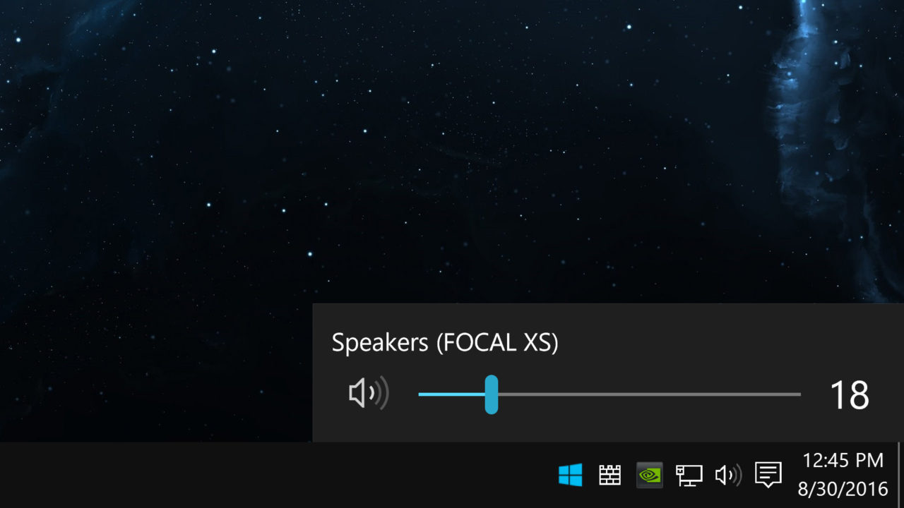 Quickly Change the Audio Playback Device in Windows 10